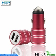 Hot Sale 2 USB Ports Car USB Charger Dual 3.1A Big Current