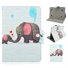 cute animal elephant 7 10 Inch Universal Tablet Case Leather Case For Ipad Tablet Cover