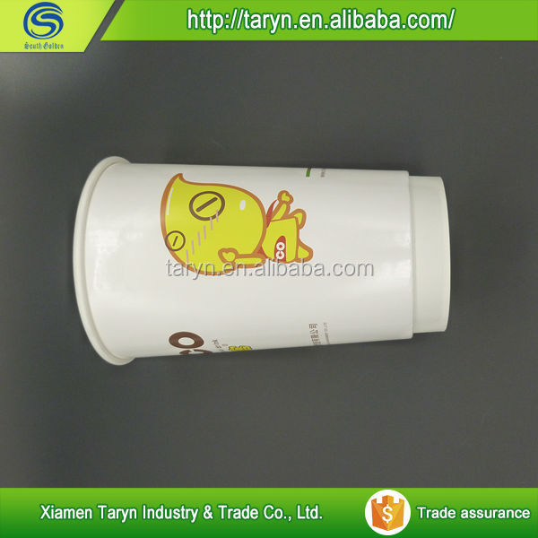 Different size personalized folded paper cup