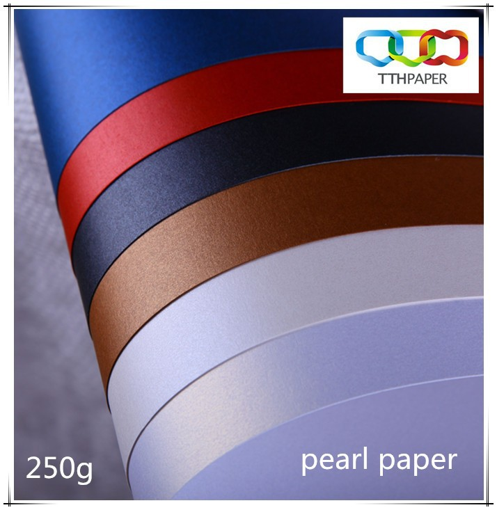 250g pearlescent paper with different colors for taps/wedding cards/covers/paper bag