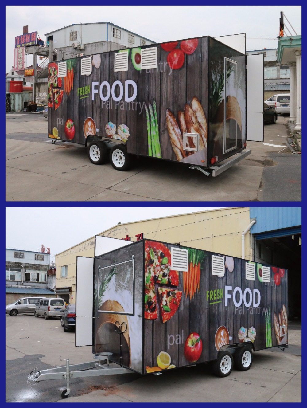 BAOJU FV-55 New model mobile motor tricycle food cart for vending cheap motor tricycle food cart vending new motor tricycle food