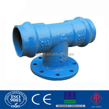 Ductile cast iron Double socket tee with flange branch