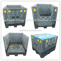 heavy duty Plastic Pallet Box crate with lid optional can be used with forklift and handlift
