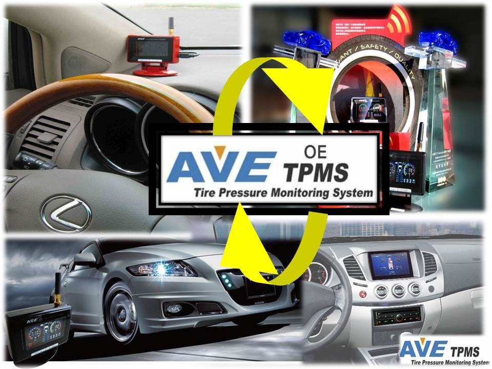 DIY TPMS: AVE Color LCD DIY Wireless TPMS for Car+Trailer/ Motorhome/ Camper / 4x4/ AVE-T1008P Tyre Pressure Monitoring System