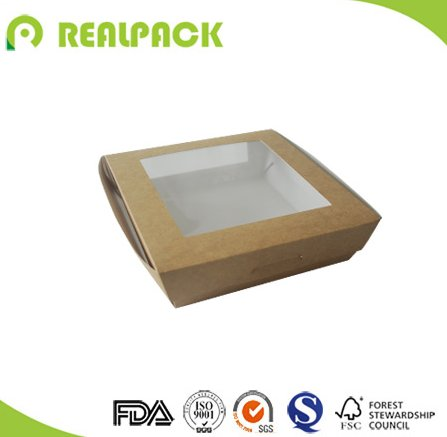 Disposable kraft paper salad packaging box