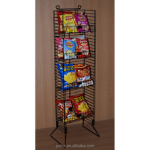 floor standing customized iron wire potato chips metal display rack manufacturer