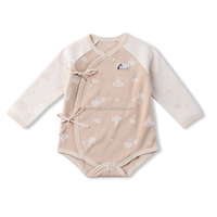 GOTS organic cotton baby clothes long sleeve newborn knitted baby jumpsuit