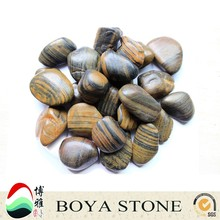 Custom black polished stone pebbles Natural indonesia pebble stone Environment polished pebble stones