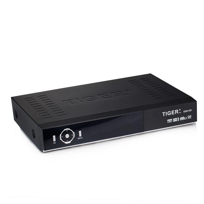 Tiger E99 HD 8 Channels FTA DVB-S2 MPEG-4 Full HD Digital Satellite Receiver