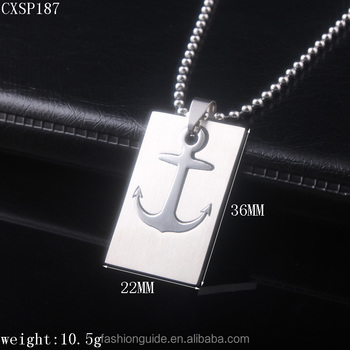 Square Stainless Steel Infinity Pendant Necklace