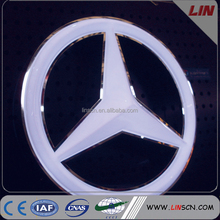 Chroming Plated 3D Car logo Sign for Benz