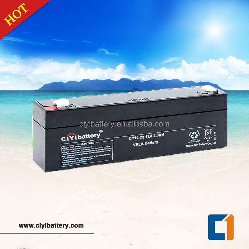 Maintenance Free Battery Valve Regulated Sealed Lead Acid Battery 12V 2.3AH