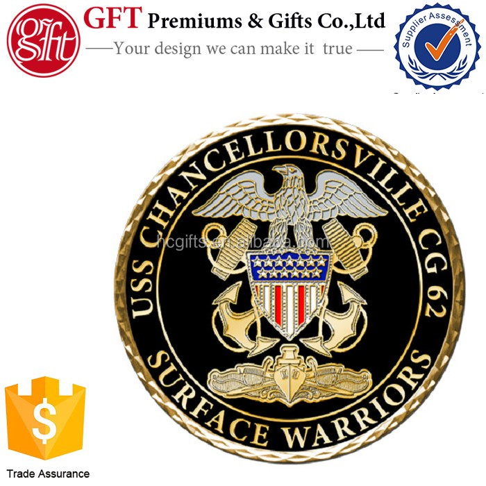 Factory Price High Quality Custom wholesale navy warriors challenge coin