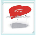 wholesales acrylic clear plastic heart box