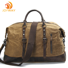 Classic Duffel Duffle Bag Weekender Waterproof Travelling Bag with Waxed Canvas