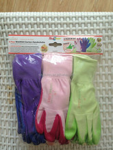 13G CE nylon nitrile coated Best Gardening Gloves for Women