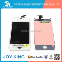 White or black front outer glass for lcd iphone 4s 100% Guarantee original wholesale price from guangzhou joyking