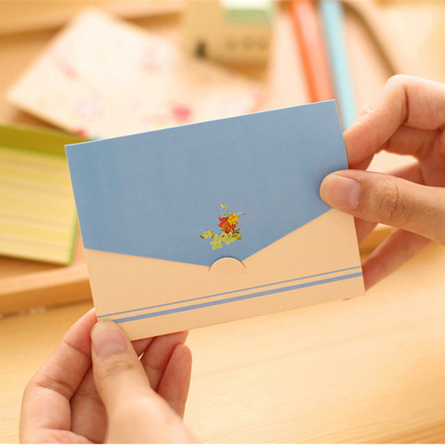 Folding greeting card thank you card birthday christmas card envelope writing paper stationery 6pcs/set