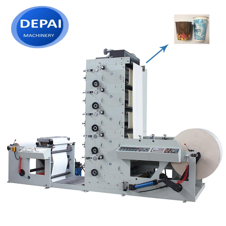 DEPAI high efficient 4 color flexo flexographic print machine