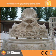 JH Angel Marble Water Fountain Fish Sculpture Stone Water Fountain for Decoration