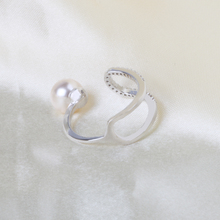 Women Fashion Hot Sell Bead Opening CZ Stone Rings Wholesale Crystal Jewelry Pearl Diamond Finger Rings