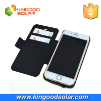China supplier good selling 3500mah iphone6 case solar panel wireless with card bag