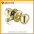Tulip tubular iron polish brass bathroom privacy door locks set