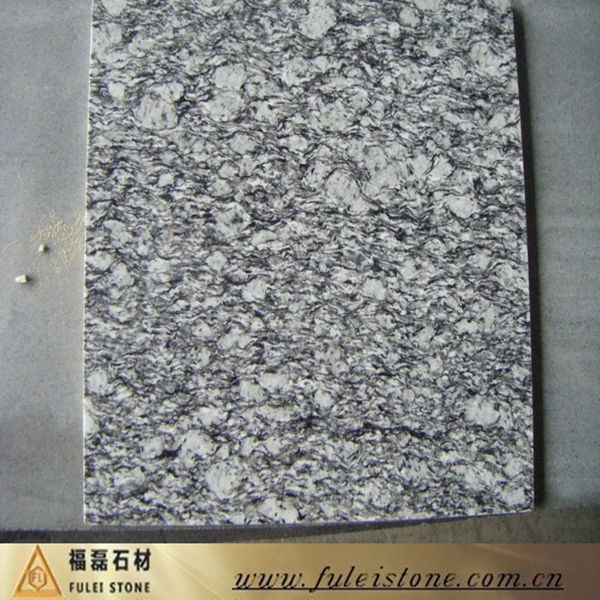 China Natural Spray White Granite,Sea Wave White, Sea Flower White Granite
