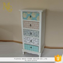 Customized painting retro home decoration large wooden storage cabinets