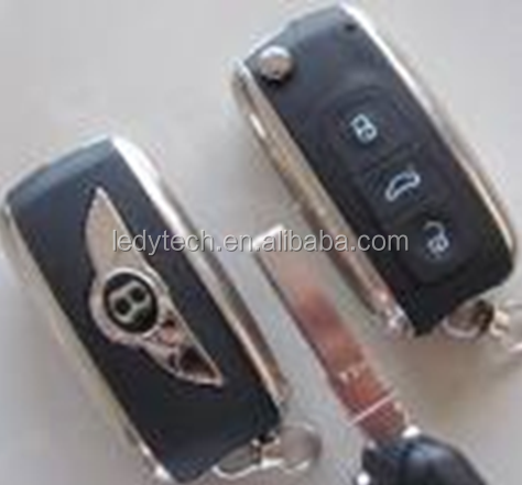 Bentley key 3 button remote flip car key cover case for BENTLEY CONTINENTAL GTC SUPERSPORT