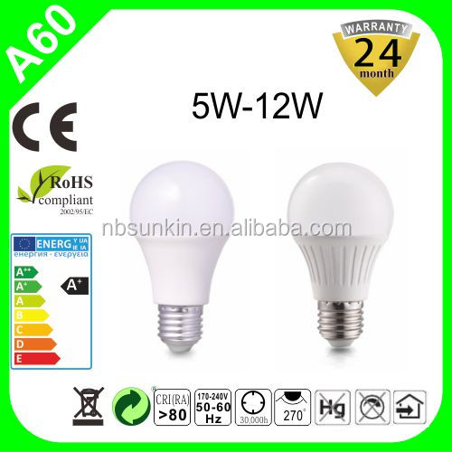 Made in China new products 2016 LED 7W e27 wholesale white highlight powerful lighting bulb