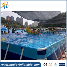 Rectangular Shape Pvc Material Above Ground Frame Pools Metal frame swimming pool