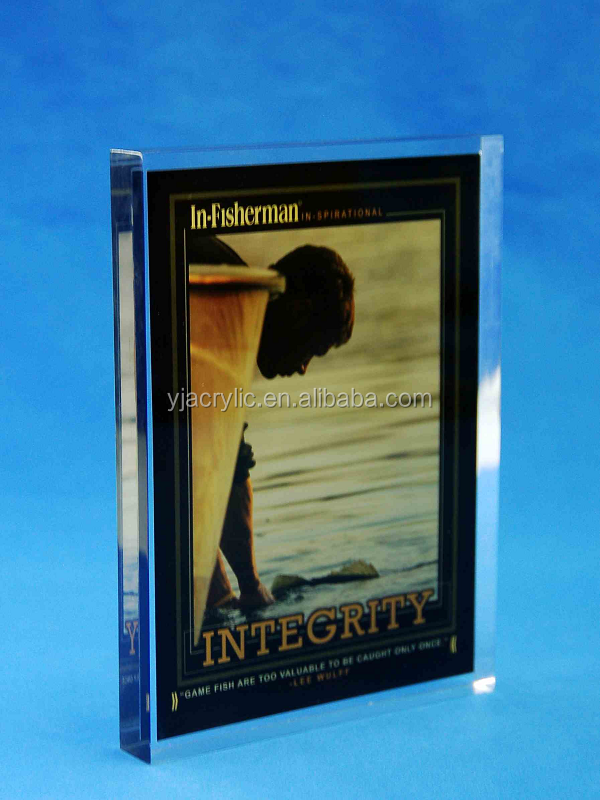 Customized Clear acrylic award with paper insert