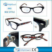 2014 fashion style clip-on reading glasses