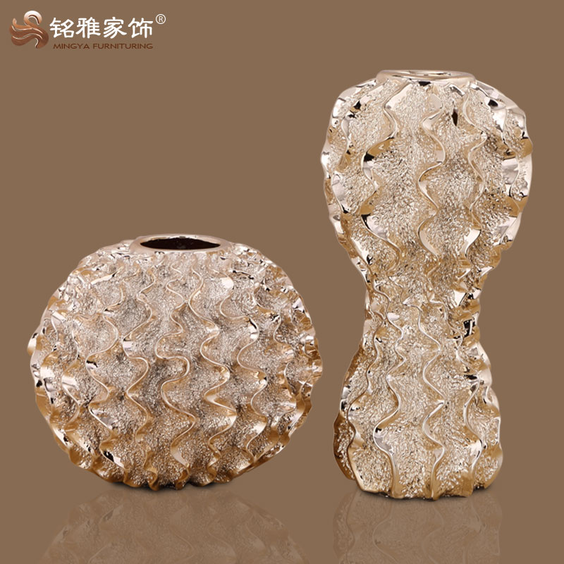 bulk production round simple elegant design resin wholesale vase