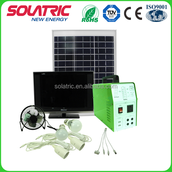 AC12V/150W portable solar kits for indoor and outdoor lighting