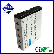 Factory Good Price Li-ion Digital Battery NP-40 NP40 CNP-40 CNP40 For Cas io camera batteries