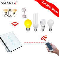 Smart-i Mobile Remote+ Touch Remote 3 gang remote and touch light switch Setting by IOS Android APP for hotel school home office