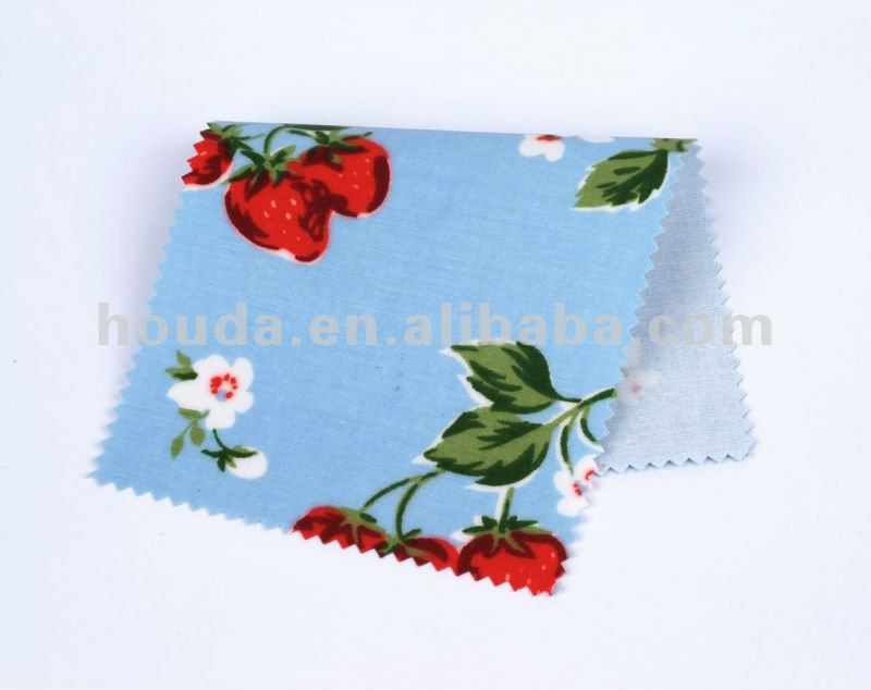 2014 printed cotton pvc coated fabric for bag or table cloth