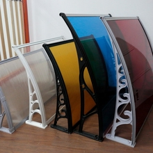 ISO certification transparent polycarbonate side awning screen