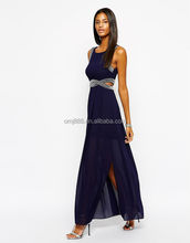 Maxi Dress With Embellishment and Cut Out Detail