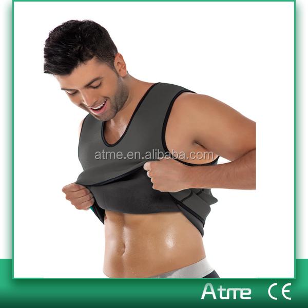 Neoprene ultra sweat body shaper waist trainer mens slimming vest