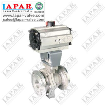 Metal Sealing Ball Valve with Pneumatic Actuator
