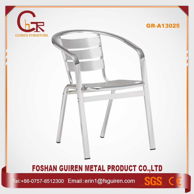New design timeproof dining aluminum chair