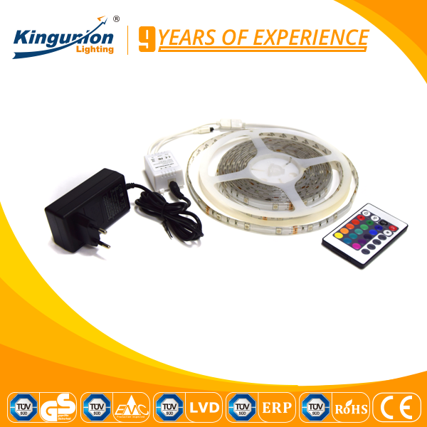 Kingunion best seller 5050 Led Light tape Kit ,24 key IP65 Remote Blister 5050 RGB Set Led Strip Light Kit