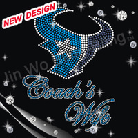Texans Rhinestone Transfer motif For Garment 2-24 16