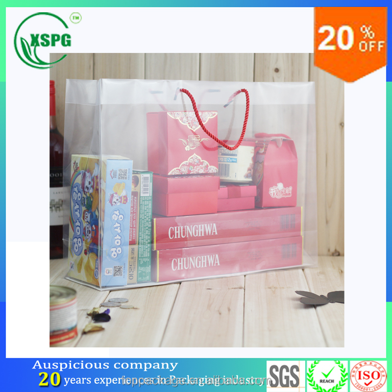 christmas gift soft loop handle plastic pvc polyester tote bag