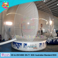 Hot inflatable human size snow globe,giant custom inflatable snow globe