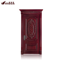 Solid wooden door walnut single solid wooden door