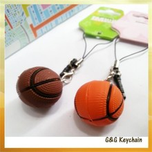The New Mini Soft Rubber Simulation Basketball Keychain Wholesale JD7084